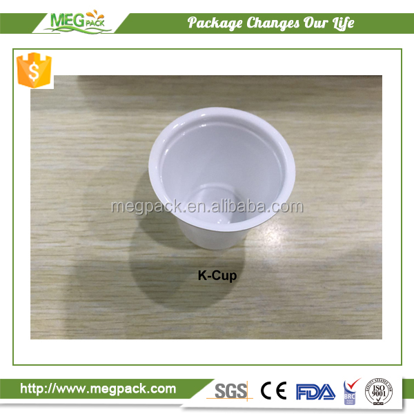 Plastic K Cup aluminium foil lids for sealing the ground coffee