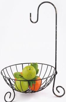 Metal Wire Fruit Bowl With Banana Hanger - Buy Fruit Basket ...