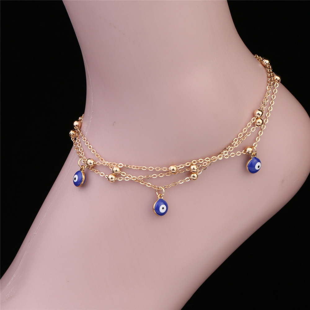 Fashion Turkish Eyes Beads Anklets For Women jewelry Pendant Anklet Bracelet Wholesale NS800644