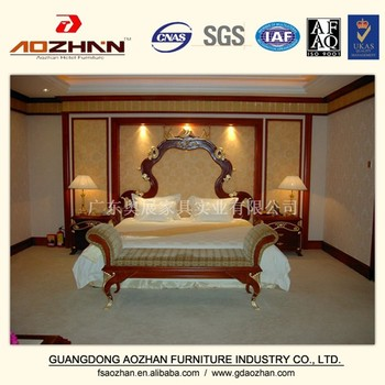 Wood Carving Bedroom Furniture King Size Bed Antique Headboards AZ DLCP 0015