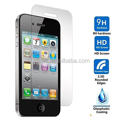 Custom made tempered glass screen protectors for iphone4/4s with excellent quality and reasonable price