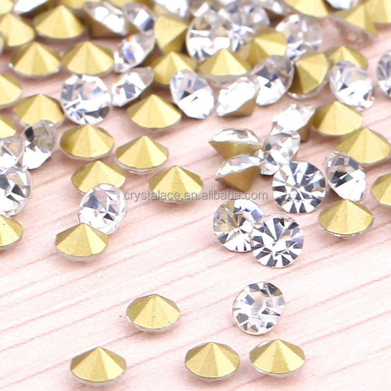 Mc Crystal chatons 888 quality, point back crystals chaton wholesale