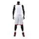 Germany plain simple design color white basketball jersey uniform