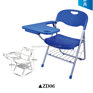 Plastic folding chair portable training room chair