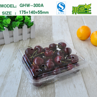 PET food grade disposable plastic packing box for fruit