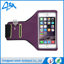 Durable high quality sport running armband phone case for iphone 6s with Key Holder and Card Slot;Purple color