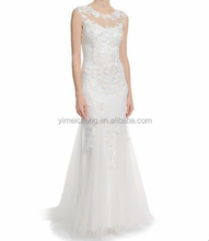Elegant fashionable women lace wedding dress top quality lady evening gown