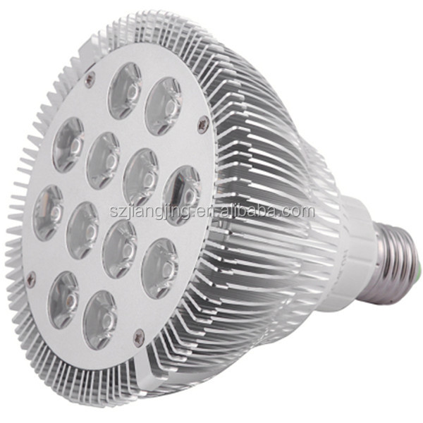 12 watt high power blauwe witte/36 watt led par licht e27 led aquarium marine
