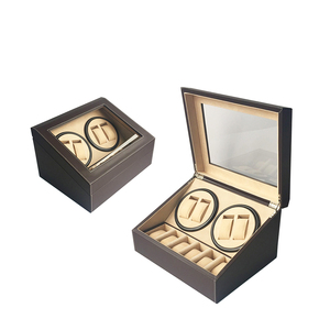 Classic Promotional Automatic Dual Leather Watch Winder Box