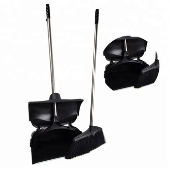 New product Chinese supplier high quality plastic household cleaning upright design windproof broom and dustpan