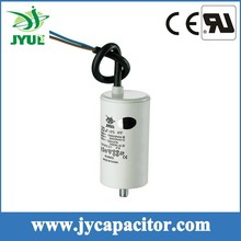 8UF 450V CBB60 taizhou generator motor run capacitor with cable and screw