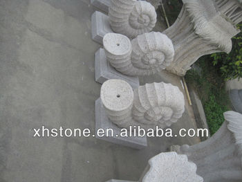 Garden snail spraying fountain stone carvings granite outdoor