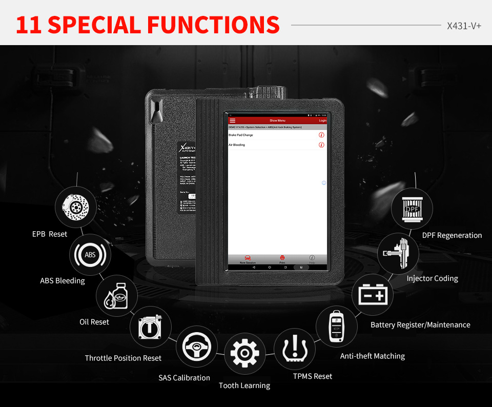 Launch X431 V plus 4.0 OBD2 Full System Diagnostic Scanner X-431 V+ Automotive OBDII Auto Diagnostic Tool Support Bluetooth/Wifi