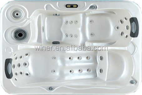 Indoor Outdoor Freestanding Acrylic 2 Person Corner Spa Two Person  Whirlpool Portable Hot Tub