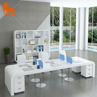 Pro modern office computer desk 2 person workstation furniture