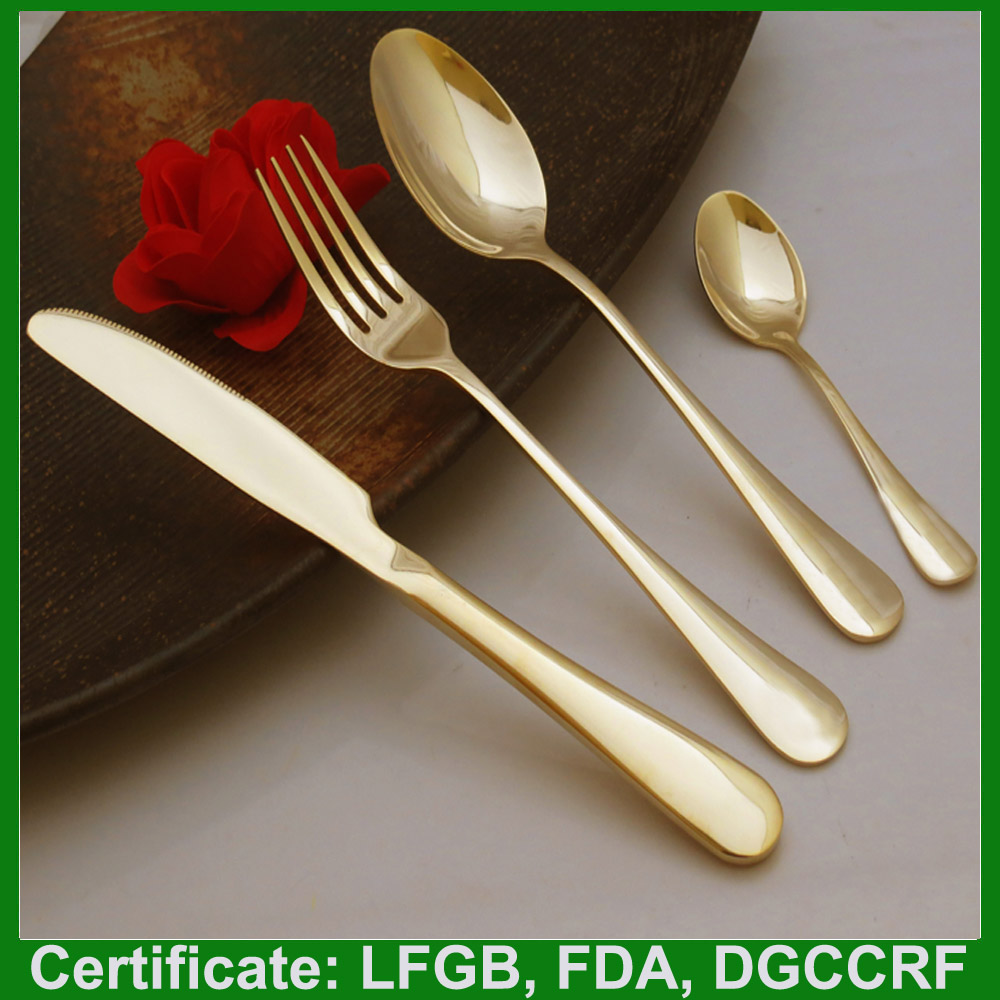 Best selling bulk gold plated flatware wholesale