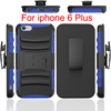silicon and pc luxury cover with robot for iphone6 6s case Multi-function 3 in 1 combo holster case for apple iphone6 6s