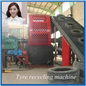 Waste tyre recycling and reclaimed rubber sheeting machine