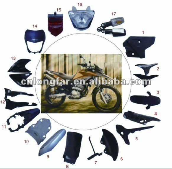 NOVE XRE300 Motorcycle plastic parts for all models