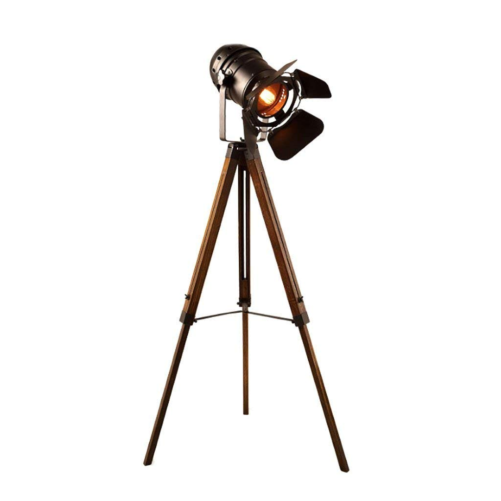 Antiques Purposeful Designer Nautical Revolving Tripod Stand Floor Lamp Searchlight Studio Spotlight Lamps