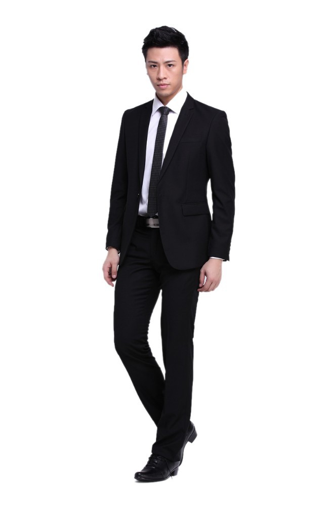 2017 Latest Design Coat Pant Men Suit /black Custom Made Slim Fit ...