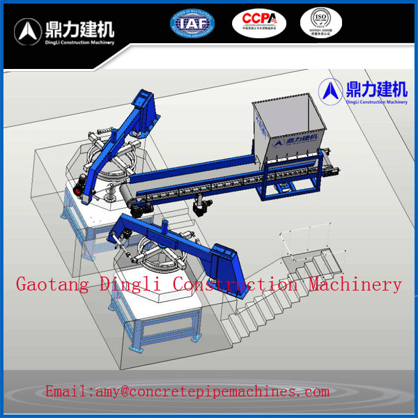 Good price bell mouth concrete manhole casting machine