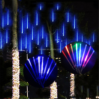 Multi-Color 20CM Meteor Shower Rain Tubes AC110-220V LED Christmas Lights Wedding Party Garden Xmas String Light Outdoor