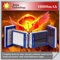 New External Mobile Battery Charger 10000mAh Power Bank Solar Power Panel Dual USB