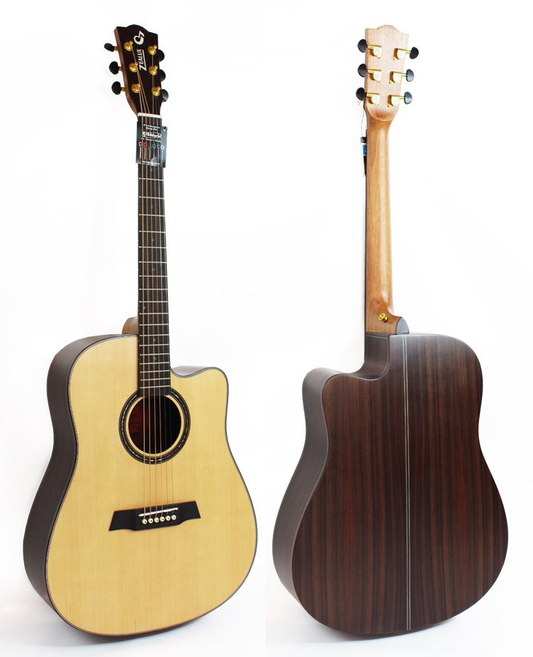 41 inch high quality soild spruce woodtop handcrafted acoustic guitars wholesale