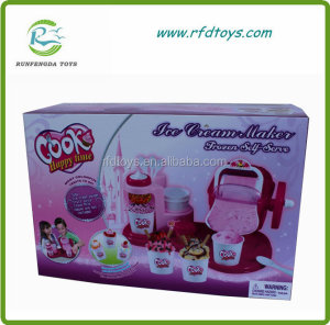 Interesting kid play set ice cream maker toy ice cream machine toy