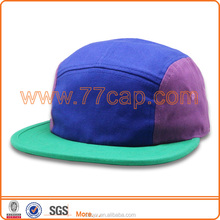 2016 OEM Customized 5 Panels Blank Plain Mixed Color Unstructured Canvas Sports Cap and Hat