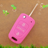 High quality flip foldable silicone remote key cover for hyundai auto remote smart car key cover