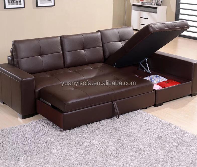 Yb2226 Multifunctional Corner Leather Sofa Bed With Storage Box - Buy  Leather Sofa Bed,Cheap Corner Sofa Bed,Sleeping Multi-function Sofa Bed  Product ...