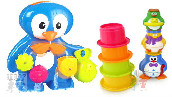 Product Toys For Boys : Bath toys for boys funny penguin toy plastic