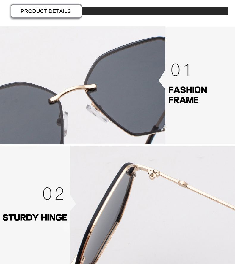 Fuqian Latest large frame womens sunglasses customized for racing-7