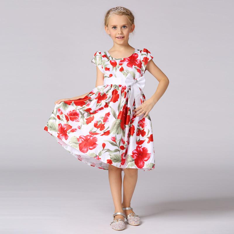 35e4cd05a Ropa de niños de chica de modelo nuevo vestido floral impreso vestido de  verano de bebé
