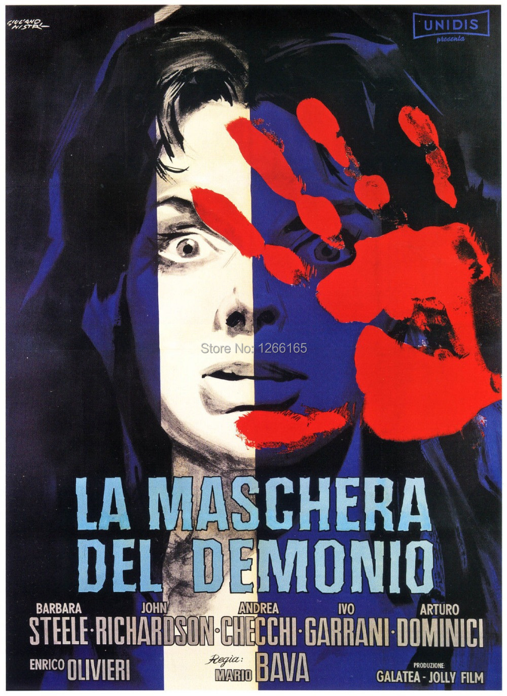 BLACK SUNDAY Movie Poster 1960 <font><b>Italian</b></font> Horror Print Silk poster <font><b>Home</b></font> <font><b>Decoration</b></font> 12x18 24x36 inch