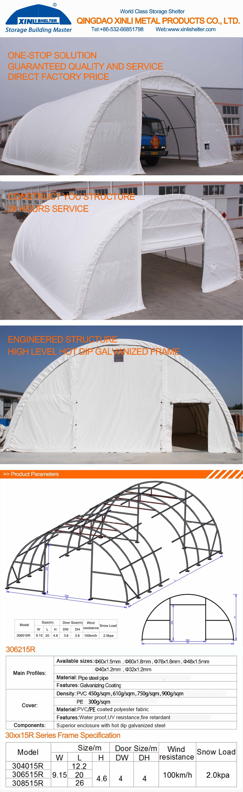 Aluminum Tube Shelters : Large snow loading farm shelter round portable dome tent
