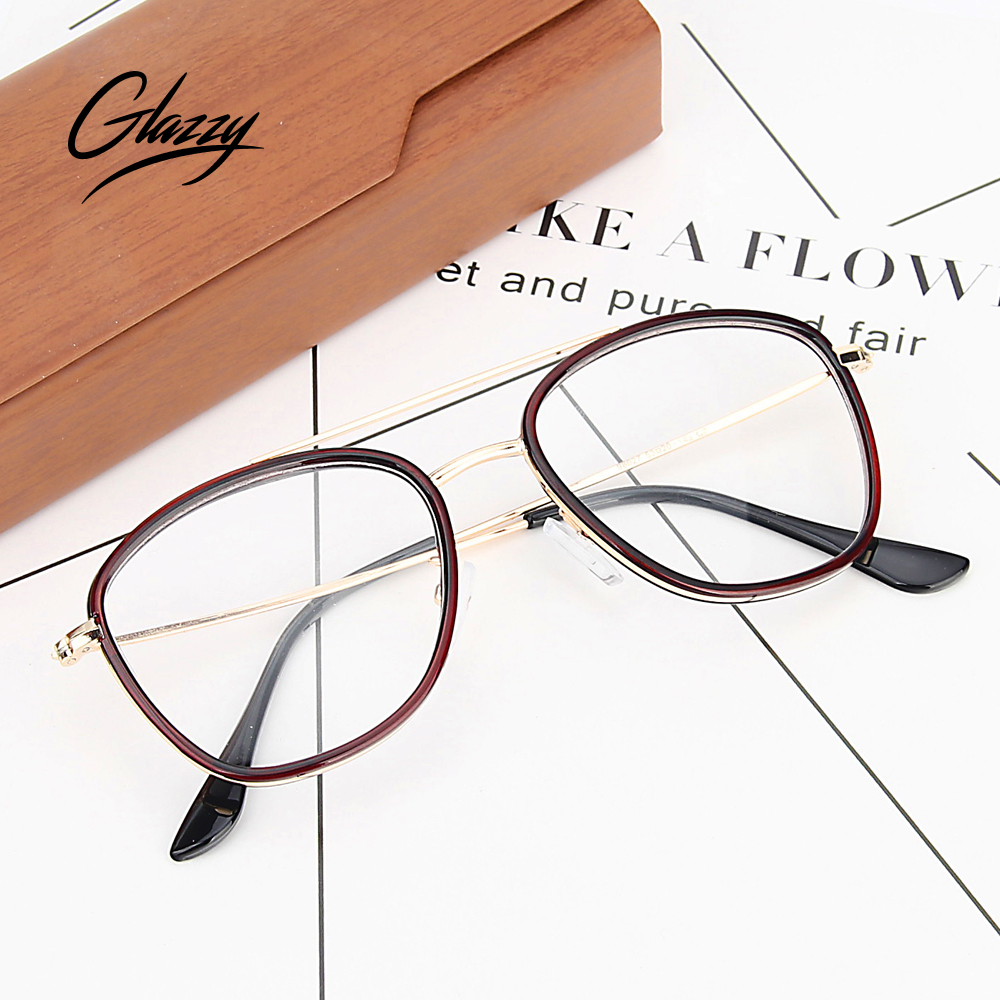 0890ad49ab66 Glazzy factory directly sell big metal frame fashion optical reading glasses