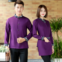 High Quality Hot Sell Long Sleeve Fashion Hotel Staff Uniform