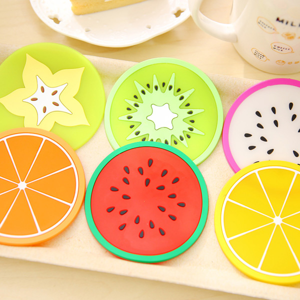 Customise thermostability breakfast milk juice glass pvc rubber coaster