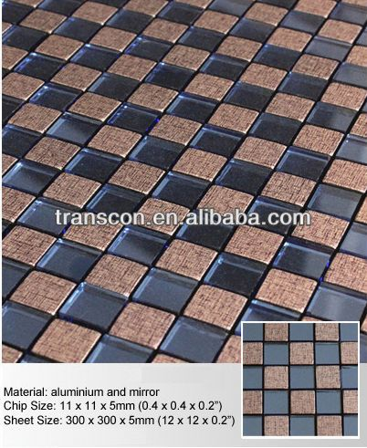 Black Brown Cheap Glass Mosaic