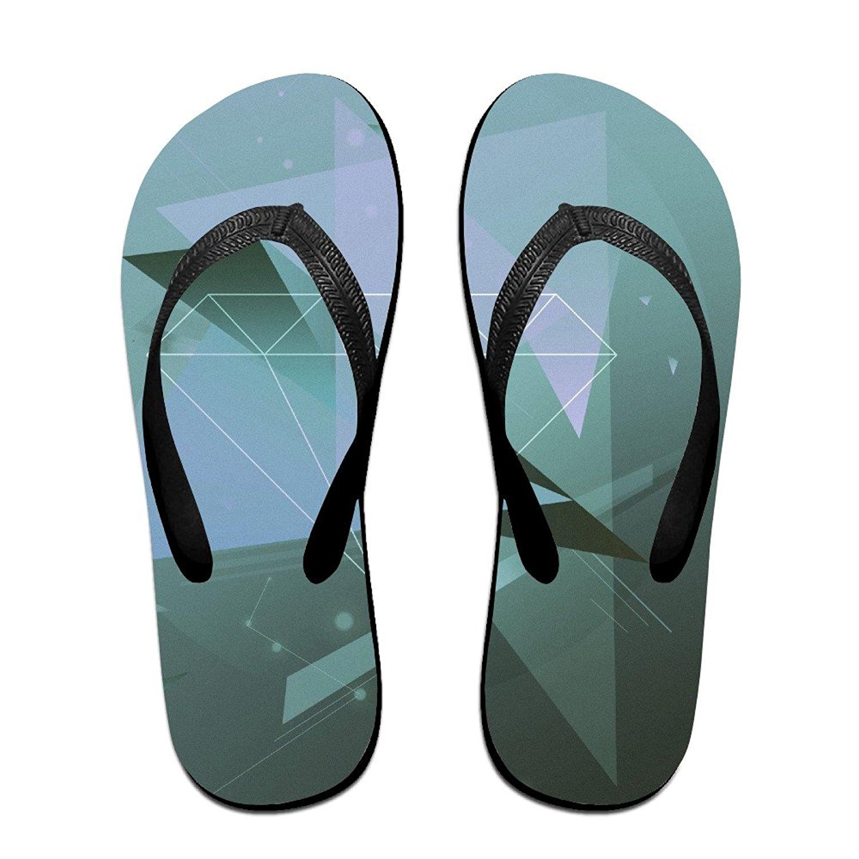 Jinqiaoguoji Design Summer Shapes Shape Line Points Womens Sandals Beach Sandals Pool Party Slippers Flip Flops