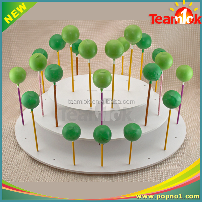 Round Shape Acrylic Cake Pop Display Stand , Cake Clear Acrylic Tabletop Lolly Holder, Insert Paper Cake Pop Display holder