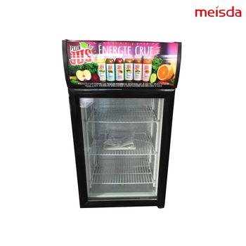 Glass Door Sticker Branding 68L Beverage Small Refrigerator Pepsi Soft  Drink Display Cooler