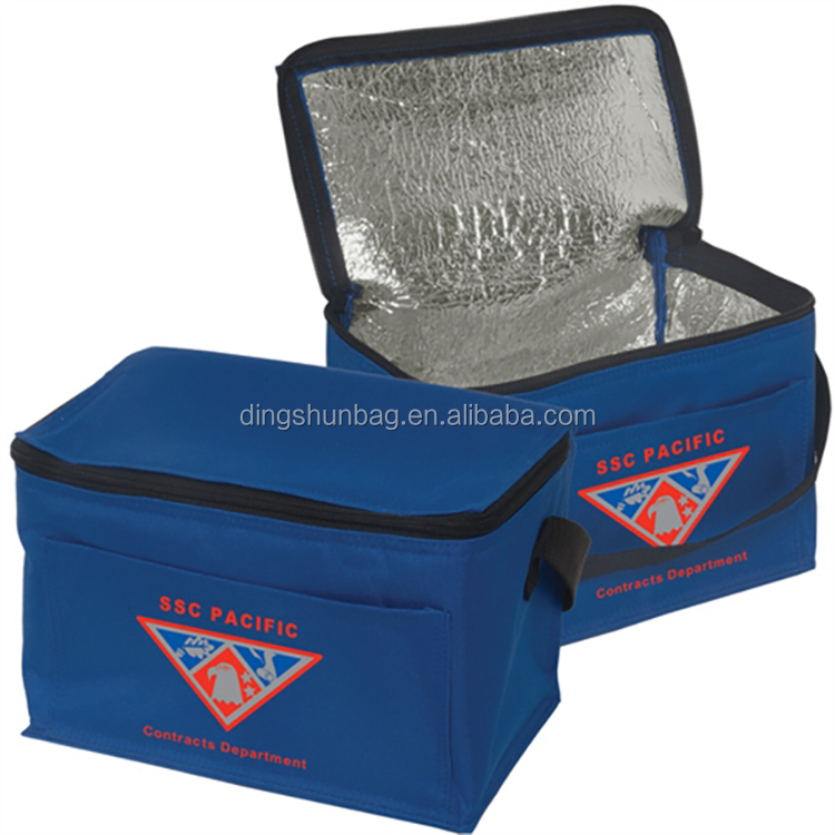 China Custom ice koeltas promotionele wijn geïsoleerde lunch tas