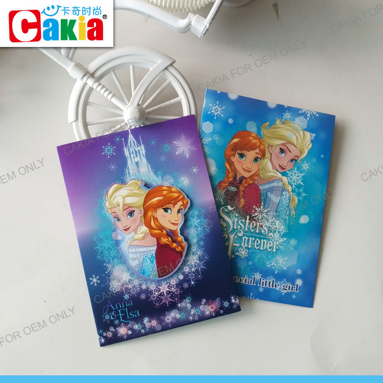 China wholesale market kids Frozen eid gifts printing greeting card