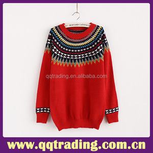 Latest design classical flat knitted china factory wholesale girls fancy sweater