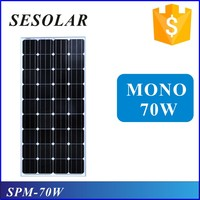 best pv supplier 70w 12v pv cell solar panel