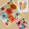 100% polyester 75d chiffon printing sunflower design fabric